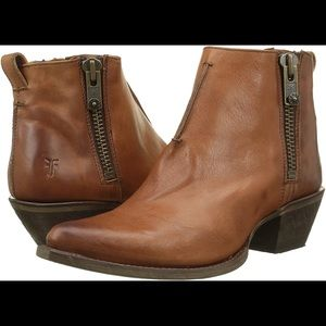 Frye Sacha Moto Shootie Washed Leather Ankle Boot